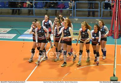 Quarti di finale: School Volley Bastia - Alp Airri Volley Aversa 7º Trofeo Nazionale Under 16 Femminile - 5º Memorial Tomasso Sulpizi.  PalaGiontella Bastia Umbra PG, 28 Dicembre 2015. FOTO: Michele Benda © 2015 Volleyfoto.it, all rights reserved [id:20151228.MB2_2563]