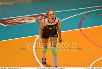 Quarti di finale: School Volley Bastia - Alp Airri Volley Aversa 7º Trofeo Nazionale Under 16 Femminile - 5º Memorial Tomasso Sulpizi.  PalaGiontella Bastia Umbra PG, 28 Dicembre 2015. FOTO: Michele Benda © 2015 Volleyfoto.it, all rights reserved [id:20151228.MB2_2589]