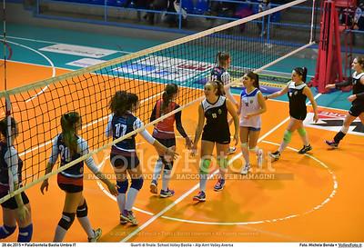 Quarti di finale: School Volley Bastia - Alp Airri Volley Aversa 7º Trofeo Nazionale Under 16 Femminile - 5º Memorial Tomasso Sulpizi.  PalaGiontella Bastia Umbra PG, 28 Dicembre 2015. FOTO: Michele Benda © 2015 Volleyfoto.it, all rights reserved [id:20151228.MB2_2558]