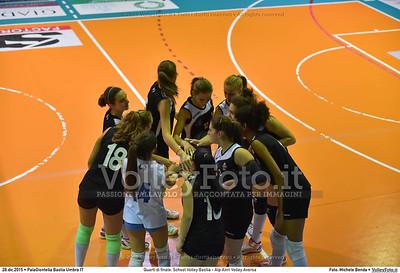 Quarti di finale: School Volley Bastia - Alp Airri Volley Aversa 7º Trofeo Nazionale Under 16 Femminile - 5º Memorial Tomasso Sulpizi.  PalaGiontella Bastia Umbra PG, 28 Dicembre 2015. FOTO: Michele Benda © 2015 Volleyfoto.it, all rights reserved [id:20151228.MB2_2560]