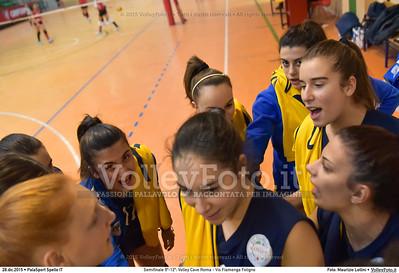 Semifinale 9º-12º: Volley Cave Roma - Vis Fiamenga Foligno 7º Trofeo Nazionale Under 16 Femminile - 5º Memorial Tomasso Sulpizi.  PalaSport Spello PG, 28 Dicembre 2015. FOTO: Maurizio Lollini © 2015 Volleyfoto.it, all rights reserved [id:20151228.DSC_3670]