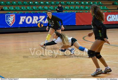 Quarti di finale: BGV Pontedera - CUS Siena 7º Trofeo Nazionale Under 16 Femminile - 5º Memorial Tomasso Sulpizi.  PalaSport Spello PG, 28 Dicembre 2015. FOTO: Maurizio Lollini © 2015 Volleyfoto.it, all rights reserved [id:20151228.DSC_4136]