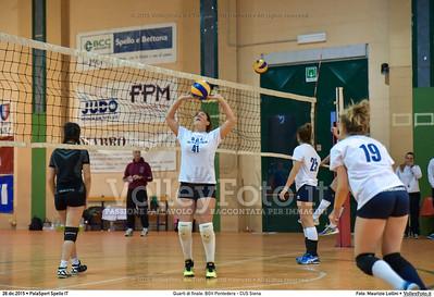 Quarti di finale: BGV Pontedera - CUS Siena 7º Trofeo Nazionale Under 16 Femminile - 5º Memorial Tomasso Sulpizi.  PalaSport Spello PG, 28 Dicembre 2015. FOTO: Maurizio Lollini © 2015 Volleyfoto.it, all rights reserved [id:20151228.DSC_4103]