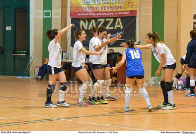 Quarti di finale: BGV Pontedera - CUS Siena 7º Trofeo Nazionale Under 16 Femminile - 5º Memorial Tomasso Sulpizi.  PalaSport Spello PG, 28 Dicembre 2015. FOTO: Maurizio Lollini © 2015 Volleyfoto.it, all rights reserved [id:20151228.DSC_4272]