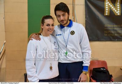 Quarti di finale: BGV Pontedera - CUS Siena 7º Trofeo Nazionale Under 16 Femminile - 5º Memorial Tomasso Sulpizi.  PalaSport Spello PG, 28 Dicembre 2015. FOTO: Maurizio Lollini © 2015 Volleyfoto.it, all rights reserved [id:20151228.DSC_4108]