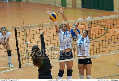 Quarti di finale: BGV Pontedera - CUS Siena 7º Trofeo Nazionale Under 16 Femminile - 5º Memorial Tomasso Sulpizi.  PalaSport Spello PG, 28 Dicembre 2015. FOTO: Maurizio Lollini © 2015 Volleyfoto.it, all rights reserved [id:20151228.DSC_4322]