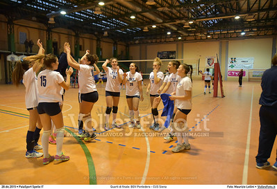 Quarti di finale: BGV Pontedera - CUS Siena 7º Trofeo Nazionale Under 16 Femminile - 5º Memorial Tomasso Sulpizi.  PalaSport Spello PG, 28 Dicembre 2015. FOTO: Maurizio Lollini © 2015 Volleyfoto.it, all rights reserved [id:20151228.DSC_4074]