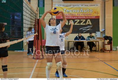 Quarti di finale: BGV Pontedera - CUS Siena 7º Trofeo Nazionale Under 16 Femminile - 5º Memorial Tomasso Sulpizi.  PalaSport Spello PG, 28 Dicembre 2015. FOTO: Maurizio Lollini © 2015 Volleyfoto.it, all rights reserved [id:20151228.DSC_4091]