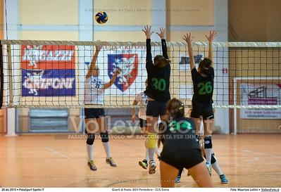 Quarti di finale: BGV Pontedera - CUS Siena 7º Trofeo Nazionale Under 16 Femminile - 5º Memorial Tomasso Sulpizi.  PalaSport Spello PG, 28 Dicembre 2015. FOTO: Maurizio Lollini © 2015 Volleyfoto.it, all rights reserved [id:20151228.DSC_4177]