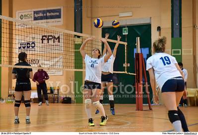 Quarti di finale: BGV Pontedera - CUS Siena 7º Trofeo Nazionale Under 16 Femminile - 5º Memorial Tomasso Sulpizi.  PalaSport Spello PG, 28 Dicembre 2015. FOTO: Maurizio Lollini © 2015 Volleyfoto.it, all rights reserved [id:20151228.DSC_4100]