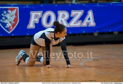 Quarti di finale: Pallavolo Fabriano Volley Insieme - Mesagne Volley 7º Trofeo Nazionale Under 16 Femminile - 5º Memorial Tomasso Sulpizi.  PalaSport Spello PG, 28 Dicembre 2015. FOTO: Maurizio Lollini © 2015 Volleyfoto.it, all rights reserved [id:20151228.DSC_4527]