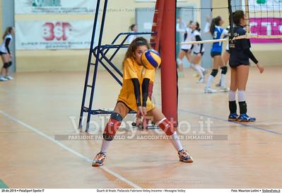 Quarti di finale: Pallavolo Fabriano Volley Insieme - Mesagne Volley 7º Trofeo Nazionale Under 16 Femminile - 5º Memorial Tomasso Sulpizi.  PalaSport Spello PG, 28 Dicembre 2015. FOTO: Maurizio Lollini © 2015 Volleyfoto.it, all rights reserved [id:20151228.DSC_4584]