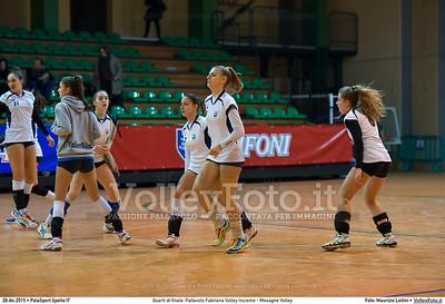 Quarti di finale: Pallavolo Fabriano Volley Insieme - Mesagne Volley 7º Trofeo Nazionale Under 16 Femminile - 5º Memorial Tomasso Sulpizi.  PalaSport Spello PG, 28 Dicembre 2015. FOTO: Maurizio Lollini © 2015 Volleyfoto.it, all rights reserved [id:20151228.DSC_4530]