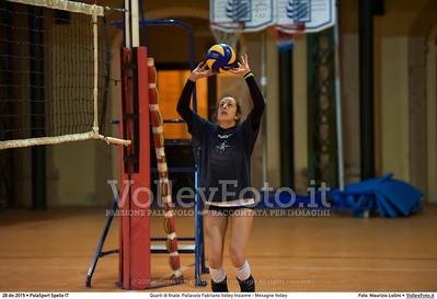 Quarti di finale: Pallavolo Fabriano Volley Insieme - Mesagne Volley 7º Trofeo Nazionale Under 16 Femminile - 5º Memorial Tomasso Sulpizi.  PalaSport Spello PG, 28 Dicembre 2015. FOTO: Maurizio Lollini © 2015 Volleyfoto.it, all rights reserved [id:20151228.DSC_4538]