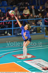 Semifinale: School Volley Bastia - BGV Pontedera 7º Trofeo Nazionale Under 16 Femminile - 5º Memorial Tomasso Sulpizi.  PalaGiontella Bastia Umbra PG, 28 Dicembre 2015. FOTO: Michele Benda © 2015 Volleyfoto.it, all rights reserved [id:20151229.MB2_3374]