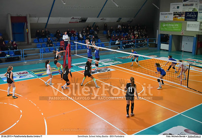 Semifinale: School Volley Bastia - BGV Pontedera 7º Trofeo Nazionale Under 16 Femminile - 5º Memorial Tomasso Sulpizi.  PalaGiontella Bastia Umbra PG, 28 Dicembre 2015. FOTO: Michele Benda © 2015 Volleyfoto.it, all rights reserved [id:20151229.MB2_3318]