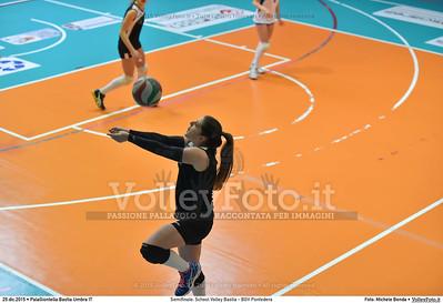 Semifinale: School Volley Bastia - BGV Pontedera 7º Trofeo Nazionale Under 16 Femminile - 5º Memorial Tomasso Sulpizi.  PalaGiontella Bastia Umbra PG, 28 Dicembre 2015. FOTO: Michele Benda © 2015 Volleyfoto.it, all rights reserved [id:20151229.MB2_3382]
