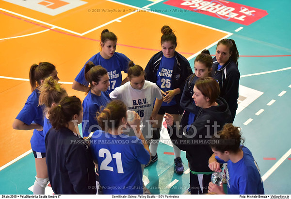 Semifinale: School Volley Bastia - BGV Pontedera 7º Trofeo Nazionale Under 16 Femminile - 5º Memorial Tomasso Sulpizi.  PalaGiontella Bastia Umbra PG, 28 Dicembre 2015. FOTO: Michele Benda © 2015 Volleyfoto.it, all rights reserved [id:20151229.MB2_3329]