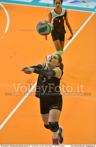 Semifinale: School Volley Bastia - BGV Pontedera 7º Trofeo Nazionale Under 16 Femminile - 5º Memorial Tomasso Sulpizi.  PalaGiontella Bastia Umbra PG, 28 Dicembre 2015. FOTO: Michele Benda © 2015 Volleyfoto.it, all rights reserved [id:20151229.MB2_3332]
