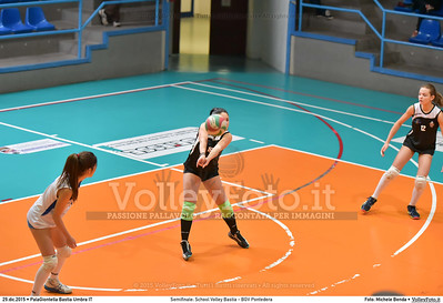 Semifinale: School Volley Bastia - BGV Pontedera 7º Trofeo Nazionale Under 16 Femminile - 5º Memorial Tomasso Sulpizi.  PalaGiontella Bastia Umbra PG, 28 Dicembre 2015. FOTO: Michele Benda © 2015 Volleyfoto.it, all rights reserved [id:20151229.MB2_3370]