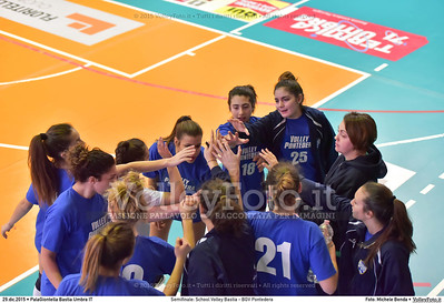 Semifinale: School Volley Bastia - BGV Pontedera 7º Trofeo Nazionale Under 16 Femminile - 5º Memorial Tomasso Sulpizi.  PalaGiontella Bastia Umbra PG, 28 Dicembre 2015. FOTO: Michele Benda © 2015 Volleyfoto.it, all rights reserved [id:20151229.MB2_3390]