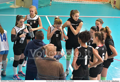 Semifinale: School Volley Bastia - BGV Pontedera 7º Trofeo Nazionale Under 16 Femminile - 5º Memorial Tomasso Sulpizi.  PalaGiontella Bastia Umbra PG, 28 Dicembre 2015. FOTO: Michele Benda © 2015 Volleyfoto.it, all rights reserved [id:20151229.MB2_3330]