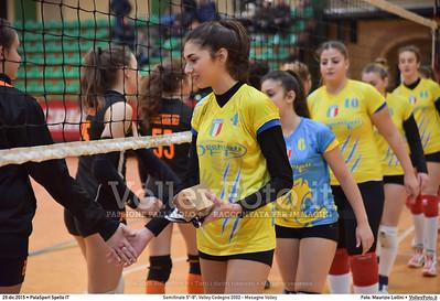 Semifinale 5º-8º: Volley Codogno 2002 - Mesagne Volley 7º Trofeo Nazionale Under 16 Femminile - 5º Memorial Tomasso Sulpizi.  PalaSport Spello PG, 29 Dicembre 2015. FOTO: Maurizio Lollini © 2015 Volleyfoto.it, all rights reserved [id:20151229.DSC_4902]