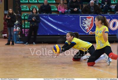Semifinale 5º-8º: Volley Codogno 2002 - Mesagne Volley 7º Trofeo Nazionale Under 16 Femminile - 5º Memorial Tomasso Sulpizi.  PalaSport Spello PG, 29 Dicembre 2015. FOTO: Maurizio Lollini © 2015 Volleyfoto.it, all rights reserved [id:20151229.DSC_4948]
