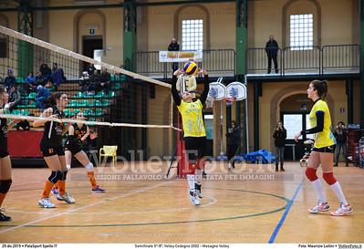 Semifinale 5º-8º: Volley Codogno 2002 - Mesagne Volley 7º Trofeo Nazionale Under 16 Femminile - 5º Memorial Tomasso Sulpizi.  PalaSport Spello PG, 29 Dicembre 2015. FOTO: Maurizio Lollini © 2015 Volleyfoto.it, all rights reserved [id:20151229.DSC_4924]