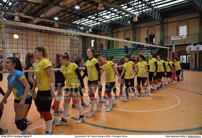 Semifinale 5º-8º: Volley Codogno 2002 - Mesagne Volley 7º Trofeo Nazionale Under 16 Femminile - 5º Memorial Tomasso Sulpizi.  PalaSport Spello PG, 29 Dicembre 2015. FOTO: Maurizio Lollini © 2015 Volleyfoto.it, all rights reserved [id:20151229.DSC_4904]