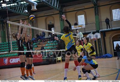 Semifinale 5º-8º: Volley Codogno 2002 - Mesagne Volley 7º Trofeo Nazionale Under 16 Femminile - 5º Memorial Tomasso Sulpizi.  PalaSport Spello PG, 29 Dicembre 2015. FOTO: Maurizio Lollini © 2015 Volleyfoto.it, all rights reserved [id:20151229.DSC_4917]