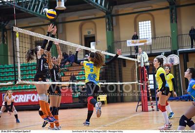 Semifinale 5º-8º: Volley Codogno 2002 - Mesagne Volley 7º Trofeo Nazionale Under 16 Femminile - 5º Memorial Tomasso Sulpizi.  PalaSport Spello PG, 29 Dicembre 2015. FOTO: Maurizio Lollini © 2015 Volleyfoto.it, all rights reserved [id:20151229.DSC_4932]