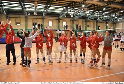 Semifinale: I' Giglio Castelfiorentino - Pallavolo Fabriano Volley Insieme 7º Trofeo Nazionale Under 16 Femminile - 5º Memorial Tomasso Sulpizi.  PalaSport Spello PG, 29 Dicembre 2015. FOTO: Maurizio Lollini © 2015 Volleyfoto.it, all rights reserved [id:20151229.DSC_5267]
