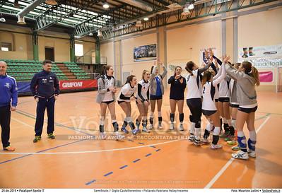 Semifinale: I' Giglio Castelfiorentino - Pallavolo Fabriano Volley Insieme 7º Trofeo Nazionale Under 16 Femminile - 5º Memorial Tomasso Sulpizi.  PalaSport Spello PG, 29 Dicembre 2015. FOTO: Maurizio Lollini © 2015 Volleyfoto.it, all rights reserved [id:20151229.DSC_5272]