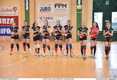 Finale 11º posto: Volley 4 Strade rieti - Volley Cave Roma 7º Trofeo Nazionale Under 16 Femminile - 5º Memorial Tomasso Sulpizi.  PalaSport Spello PG, 28 Dicembre 2015. FOTO: Maurizio Lollini © 2015 Volleyfoto.it, all rights reserved [id:20151229.DSC_5777]