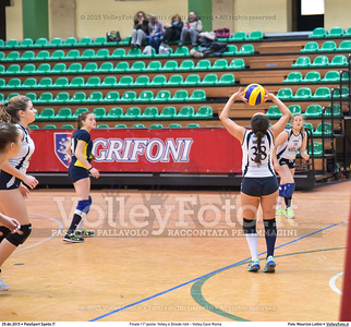 Finale 11º posto: Volley 4 Strade rieti - Volley Cave Roma 7º Trofeo Nazionale Under 16 Femminile - 5º Memorial Tomasso Sulpizi.  PalaSport Spello PG, 28 Dicembre 2015. FOTO: Maurizio Lollini © 2015 Volleyfoto.it, all rights reserved [id:20151229.DSC_5796]