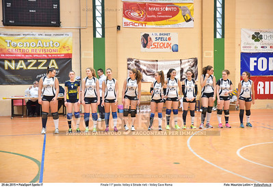 Finale 11º posto: Volley 4 Strade rieti - Volley Cave Roma 7º Trofeo Nazionale Under 16 Femminile - 5º Memorial Tomasso Sulpizi.  PalaSport Spello PG, 28 Dicembre 2015. FOTO: Maurizio Lollini © 2015 Volleyfoto.it, all rights reserved [id:20151229.DSC_5776]