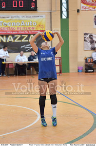 Finale 11º posto: Volley 4 Strade rieti - Volley Cave Roma 7º Trofeo Nazionale Under 16 Femminile - 5º Memorial Tomasso Sulpizi.  PalaSport Spello PG, 28 Dicembre 2015. FOTO: Maurizio Lollini © 2015 Volleyfoto.it, all rights reserved [id:20151229.DSC_5774]
