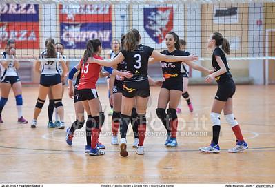 Finale 11º posto: Volley 4 Strade rieti - Volley Cave Roma 7º Trofeo Nazionale Under 16 Femminile - 5º Memorial Tomasso Sulpizi.  PalaSport Spello PG, 28 Dicembre 2015. FOTO: Maurizio Lollini © 2015 Volleyfoto.it, all rights reserved [id:20151229.DSC_5841]