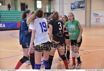 Finale 11º posto: Volley 4 Strade rieti - Volley Cave Roma 7º Trofeo Nazionale Under 16 Femminile - 5º Memorial Tomasso Sulpizi.  PalaSport Spello PG, 28 Dicembre 2015. FOTO: Maurizio Lollini © 2015 Volleyfoto.it, all rights reserved [id:20151229.DSC_5753]