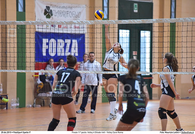 Finale 11º posto: Volley 4 Strade rieti - Volley Cave Roma 7º Trofeo Nazionale Under 16 Femminile - 5º Memorial Tomasso Sulpizi.  PalaSport Spello PG, 28 Dicembre 2015. FOTO: Maurizio Lollini © 2015 Volleyfoto.it, all rights reserved [id:20151229.DSC_5856]
