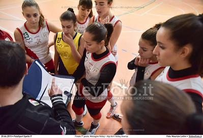 Finale 7º posto: Mesagne Volley - Alp Airri Volley Aversa 7º Trofeo Nazionale Under 16 Femminile - 5º Memorial Tomasso Sulpizi.  PalaSport Spello PG, 28 Dicembre 2015. FOTO: Maurizio Lollini © 2015 Volleyfoto.it, all rights reserved [id:20151229.DSC_6003]
