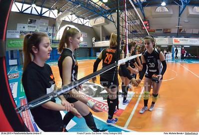 Finale 5º posto: Cus Siena - Volley Codogno 2002 7º Trofeo Nazionale Under 16 Femminile - 5º Memorial Tomasso Sulpizi.  PalaGiontella Bastia Umbra PG, 28 Dicembre 2015. FOTO: Michele Benda © 2015 Volleyfoto.it, all rights reserved [id:20151229.MBQ_0830]