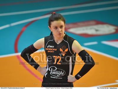 Finale 5º posto: Cus Siena - Volley Codogno 2002 7º Trofeo Nazionale Under 16 Femminile - 5º Memorial Tomasso Sulpizi.  PalaGiontella Bastia Umbra PG, 28 Dicembre 2015. FOTO: Michele Benda © 2015 Volleyfoto.it, all rights reserved [id:20151229.MB2_3985]