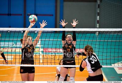 Finale 5º posto: Cus Siena - Volley Codogno 2002 7º Trofeo Nazionale Under 16 Femminile - 5º Memorial Tomasso Sulpizi.  PalaGiontella Bastia Umbra PG, 28 Dicembre 2015. FOTO: Michele Benda © 2015 Volleyfoto.it, all rights reserved [id:20151229.MB2_4059]