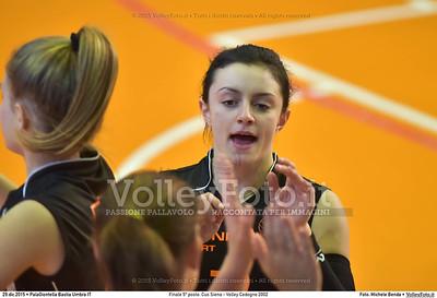 Finale 5º posto: Cus Siena - Volley Codogno 2002 7º Trofeo Nazionale Under 16 Femminile - 5º Memorial Tomasso Sulpizi.  PalaGiontella Bastia Umbra PG, 28 Dicembre 2015. FOTO: Michele Benda © 2015 Volleyfoto.it, all rights reserved [id:20151229.MB2_3992]