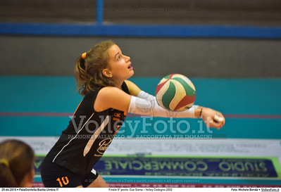 Finale 5º posto: Cus Siena - Volley Codogno 2002 7º Trofeo Nazionale Under 16 Femminile - 5º Memorial Tomasso Sulpizi.  PalaGiontella Bastia Umbra PG, 28 Dicembre 2015. FOTO: Michele Benda © 2015 Volleyfoto.it, all rights reserved [id:20151229.MB2_4012]