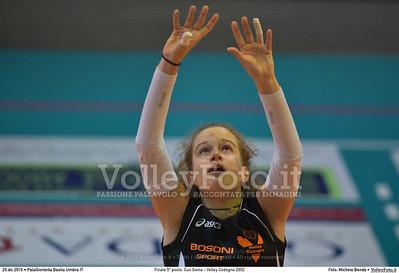 Finale 5º posto: Cus Siena - Volley Codogno 2002 7º Trofeo Nazionale Under 16 Femminile - 5º Memorial Tomasso Sulpizi.  PalaGiontella Bastia Umbra PG, 28 Dicembre 2015. FOTO: Michele Benda © 2015 Volleyfoto.it, all rights reserved [id:20151229.MB2_4009]