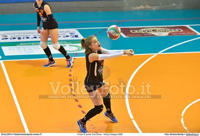 Finale 5º posto: Cus Siena - Volley Codogno 2002 7º Trofeo Nazionale Under 16 Femminile - 5º Memorial Tomasso Sulpizi.  PalaGiontella Bastia Umbra PG, 28 Dicembre 2015. FOTO: Michele Benda © 2015 Volleyfoto.it, all rights reserved [id:20151229.MB2_4053]