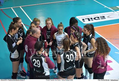 Finale 5º posto: Cus Siena - Volley Codogno 2002 7º Trofeo Nazionale Under 16 Femminile - 5º Memorial Tomasso Sulpizi.  PalaGiontella Bastia Umbra PG, 28 Dicembre 2015. FOTO: Michele Benda © 2015 Volleyfoto.it, all rights reserved [id:20151229.MB2_4043]